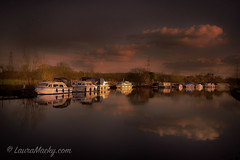 http://www.lauramacky.com (Laura Macky) Tags: pictures sunset texture clouds photoshop landscape boats photography fineart digitalphotography