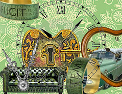 TEMPUS FUGIT (poppycocqu) Tags: brown green art clock car collage digital gold artwork poetry poem time ring sofa rings ap montage latin poppy poet clocks chesterfield tempusfugit timeflies prose settee digitalartwork jimcroce timeinabottle appoppy whendaydreamsanddandelionclocksblewonthewind