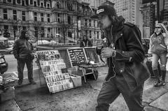 15th Street near JFK Blvd., 2016 (Alan Barr) Tags: street people blackandwhite bw philadelphia monochrome mono blackwhite candid streetphotography sp streetphoto gr ricoh 15thstreet 2016 jfkblvd
