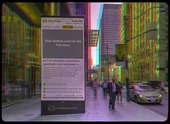 Public Display in downtown Toronto 3-D ::: HDR/Raw Anaglyph Stereoscopy (Stereotron) Tags: urban toronto ontario canada architecture modern america radio canon eos stereoscopic stereophoto stereophotography 3d downtown raw control contemporary north citylife streetphotography kitlens twin anaglyph financialdistrict stereo stereoview to remote spatial 1855mm hdr province redgreen tdot 3dglasses hdri transmitter stereoscopy synch anaglyphic optimized in threedimensional hogtown stereo3d thequeencity cr2 stereophotograph anabuilder thebigsmoke synchron redcyan 3rddimension 3dimage tonemapping 3dphoto 550d torontonian stereophotomaker 3dstereo 3dpicture anaglyph3d yongnuo stereotron