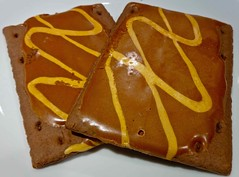 chocolate caramel pop-tarts (Fuzzy Traveler) Tags: food breakfast poptarts toaster chocolate caramel pastry kelloggs