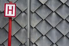 Bus stop (Jan van der Wolf) Tags: red grey pattern lei redrule slate rood bushalte halte grijs schist patroon leisteen map154176v