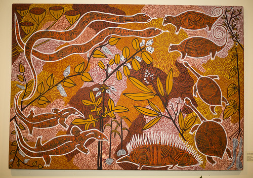 Acrylic on canvas, 85x120 cm, 1992, Dorothy Sambono, Daly River, Northern Territory, Australia