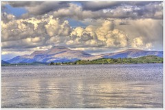 Ben Lomond (Billy McDonald) Tags: mountain reflection clouds scotland benlomond hdr