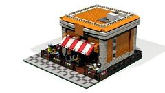 Kiosk2 (atkaforce1) Tags: house lego modular moc ldd