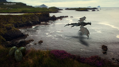 The Land of Dragons II (Quicksil7er) Tags: ocean blue ireland green zeiss 35mm landscape fire model dragon egg hills fantasy carl crossprocessing 169 gree truong chau quicksil7er