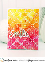 Smile (akeptlife) Tags: tinroof background casualfridays smile card word die stamping papercrafting
