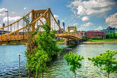 TG 16 05 28 050 (pugpop) Tags: downtown pittsburgh pennsylvania hdr alleghenyriver 2016 robertoclementebridge