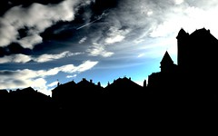 Rooftops silhouette... (MickyFlick) Tags: france silhouette europe rooftops correze uzerche limousin mickyflick