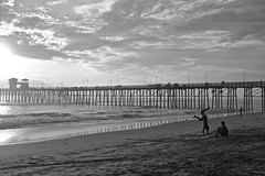 It's a Lifestyle (KC Mike D.) Tags: sand tide clouds cartwheel boys summer beach ocean oceanside reflection waves