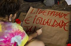 """ Liberdade e Igualdade J! "" (SamNeves1993) Tags: brazil woman brasil ink avenida women mulher rape sp brazilian feminism mulheres cartaz tinta manifesto paulista feminismo manifestao feminista temer patriarcado estupro"