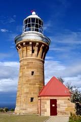 Barrenjoey lighthouse (enjosmith) Tags: ocean door blue red lighthouse white stone barrenjoey