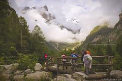 Esplorando le vallate Canadesi? No, siamo in Valle di Mello! (Matteo Rinaldi.it) Tags: montagne trekking natura ponte bosco ragazzi camminare valdimello esplorare