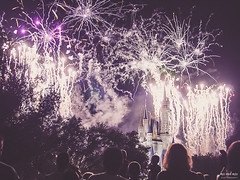 Make A Wish (The Mr and The Mrs) Tags: castle fireworks availablelight disney wishes waltdisneyworld magickingdom sonycybershot october2004 disneyparks throwbackthursday disneyphotography kristicreedwwwthemrandthemrscom