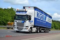 Scania R490 'K.G.B. Transport' reg KU15 GKP (erfmike51) Tags: lorry artic curtainside euro6 scaniar490 kgbtransport