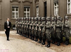 Adolf Hitler reviews an honour guard in the inner yard of the Reichsprsidentenpalais, Berlin, Germany, 12 September 1934. [2018x1499] #HistoryPorn #history #retro http://ift.tt/1S4GZUd (Histolines) Tags: berlin history yard germany hitler guard an retro september inner timeline 12 adolf 1934 reviews honour vinatage historyporn reichsprsidentenpalais histolines 2018x1499 httpifttt1s4gzud