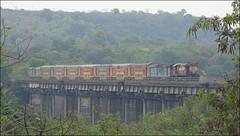 Madgaon LTT Double Decker Express. (Omkar Sawant) Tags: air double viaduct express railways decker konkan madgaon ltt conditioned ratanagiri kuarbao