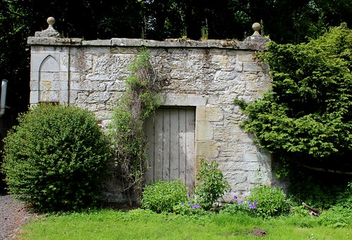 Wall by North Entrance of Duns Castle
