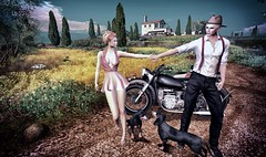 Rest of the countryside (Luca Arturo Ferrarin) Tags: secondlife couple rural district countryside rest love beautiful brightness earlysummer bike dog lovely flower garden nostalgia