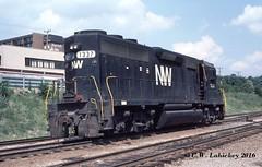 N&W 1337 on 9-6-79 (C.W. Lahickey) Tags: nw greentree emd gp40