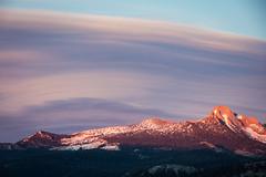 Alpen Glow Under Striated Clouds (jeff_a_goldberg) Tags: california summer us unitedstates nps unescoworldheritagesite unesco yosemite halfdome yosemitenationalpark nationalparkservice glacierpoint alpenglow