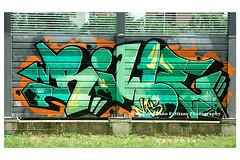 6888 (Massimiliano Fattizzo p.) Tags: street blackandwhite italy streetart milan colors graffiti colours milano colori