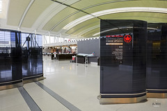 Premium Check-in partition (A. Wee) Tags: toronto canada airport counter pearson yyz checkin businessclass aircanada