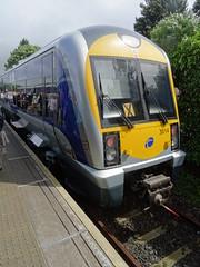 Waterside Station, 21st of June 2016 (nathanlawrence785) Tags: station train track rail railway class londonderry ni translink railways 3000 caf waterside derry nir dm2 dmu 3014 c3k