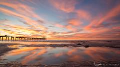 2016 - Landscape - Sunset - Largs - 02_20_07.jpg (stevenlazar) Tags: ocean sunset beach clouds waves jetty australia adelaide southaustralia largs 2016