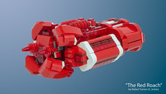 """""""The Red Roach"""" - Urgavoon - Front Left (rt_bricks) Tags: lego spaceship moc afol microscale microspaceship"""