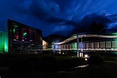gambler's paradise - Spielbank Bad Steben (ho4587@ymail.com) Tags: spielbank badsteben gebude architektur brcke licht nacht wolken himmel lzb
