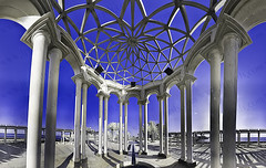 Webetar (TJ.Photography) Tags: city blue urban panorama lines architecture triangles concrete design shadows artistic geometry columns structure architectural geometrical pillars arabesque