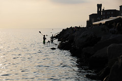 Evening swimmers, Piran / Slovenia (anji) Tags: slovenia slovenija exyu exyugoslavia balkans istria istra adriaticsea adriatic jadran piran pirano