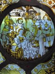 Epiphany (Aidan McRae Thomson) Tags: leicester jewrywall museum leicestershire medieval stainedglass window bagpipes shawm