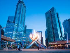 Downtown Vancouver at Dusk (Sushistand) Tags: canada vancouver downtown lightroom olympictorch m43 em5 500px olympusomd