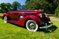 1933 Oldsmobile at Applewood (hz536n/George Thomas) Tags: summer copyright canon michigan canon5d flint carshow olds oldsmobile applewood 2016 ef1740mmf4lusm cs5 sloanmuseum sloanmuseumautofair