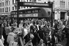 Congestion (SaTay Images) Tags: england urban london underground blackwhite traffic crowd rushhour oxfordcircus nikond5200