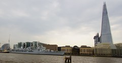 HMS Edinburgh 7 (ianwyliephoto) Tags: london thames towerbridge ship hmsbelfast tugs royalnavy 70thanniversary battleoftheatlantic hmsedinburgh d97 theshard type42destroyer fortressoftheseas boa70