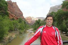 Dan and the Virgin River (CourtneyMay) Tags: vacation utah may zion zionut 2013 may2013