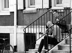 Jammin' on the Stoop (JKEL) Tags: street bw music philadelphia blackwhite candid steps streetphotography stoop pinest streetmusicians