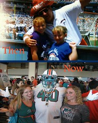 Then 1997-Now 2013 (Desperado8) Tags: football nfl afc miamidolphins maniac superfans joerobbiestadium sunlifestadium