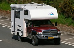 DODGE RAM - RV Motor Home with 'Levy' camper.  Netherlands (scotrailm) Tags: trucks rv campers