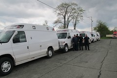 Delivering ambulances (JarvisEye) Tags: canada mexico design ambulance newbrunswick build sell manufacture manufacturer malley