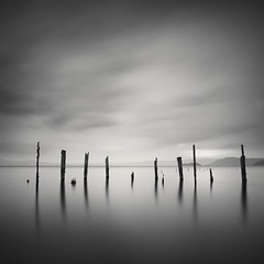 fourteen posts (StephenCairns) Tags: longexposure japan twilight 日本 blackandwhitephotography nagahama aftersunset 夕方 琵琶湖 白黒写真 lakebiwa neutraldensityfilter 日の入り 長時間露出 stephencairns 500seconds 長浜市 モノクロ写真 leegraduatedfilters hitechprostopndfilters 長い時間露出 500秒