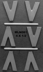 MLN081 (Chocolate Concepts) Tags: chocolate letters number v numbers letter mold
