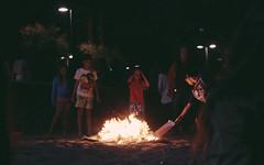 Burn, FIRE... (Leo Hidalgo (@yompyz)) Tags: wild sky water face night canon fire eos 50mm star noche crazy spain sand agua san juan random cara playa luna arena sanjuan ojos cielo wai fuego malaga estrella mmmm nie