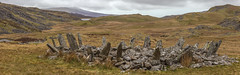 Bryn Cader Faner (hanneketravels) Tags: panorama megalithic wales hiking remote prehistoric cairn momument bronzeage stonecircle gwynedd northwales meirionnydd burialsite ardudwy bryncaderfaner cairncircle
