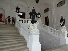 Belvedere Palace entrance stairway