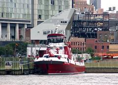 FDNY Marine 1 (MJ_100) Tags: city nyc usa newyork america 1 boat us marine state manhattan vessel midtown company hudsonriver fdny firedepartment fireboat 343 marine1 thethreefortythree the343