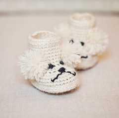 Poodle Baby Boots (mon petit violon) Tags: boy baby house girl boot shoe shoes pattern boots patterns crochet style poodle crib easy ankle slipper booties ugg bootie